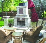 Backyard Setting with Fireplace