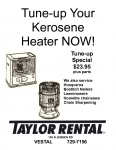Kerosene Heater Tune Up