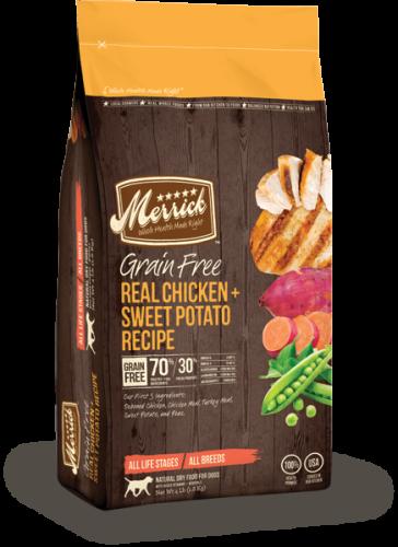 $49.99 For All 25# Merrick Grain Free Dog Food