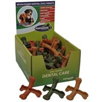 Paragon Cross Bone Dental Dog Treat 50 ct. Display Box