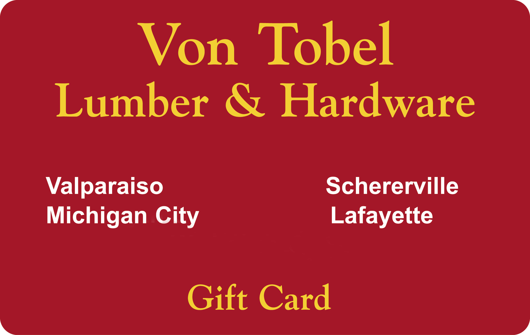 Image of Von Tobel Gift Card