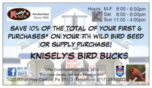 Knisely's Bird Buck$