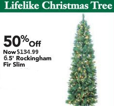 50% Off 6.5' Rockingham Fir Slim Tree