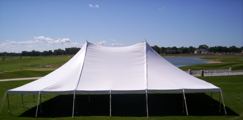 tent white pole 40 39 x 40 39 taylor rental party plus. Black Bedroom Furniture Sets. Home Design Ideas