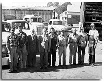 image of the Foster Lumber Yard employees 1940