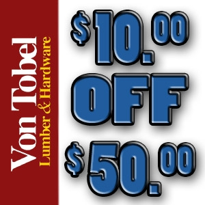 $10 Off a $50 Purchase!