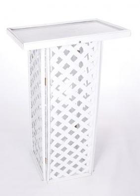 White Lattice Registry Stand