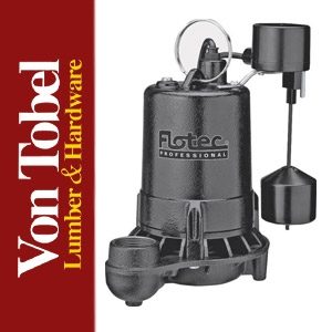 Save $30 on Flotec/Simer 1/2hp Cast Iron Sump Pump