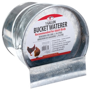 Little Giant® Galvanized 1-Gallon Bucket Waterer