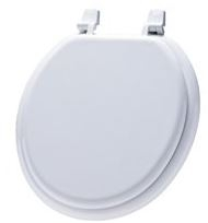 White Wood Finished Toilet Seat Now $6.50