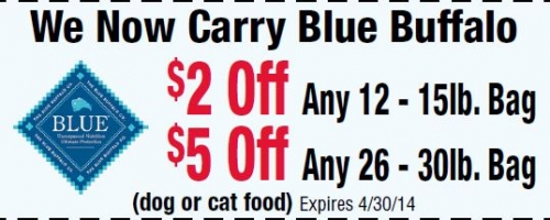 You could save $2 or even $5 on Blue Buffalo!