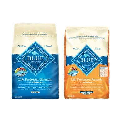 Select Blue Buffalo Dog Food 30lbs Now $46.99