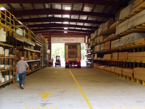 Menards Building Material Delivery