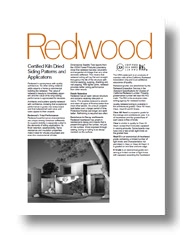 Redwood Siding Patterns & Applications