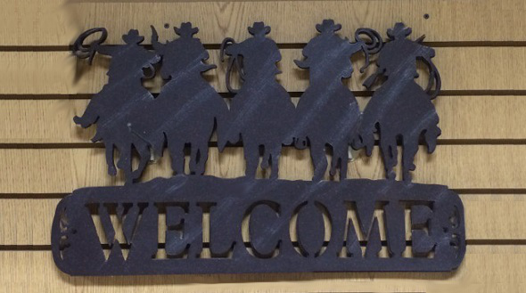 Welcome sign slider