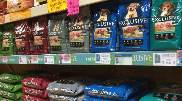Exclusive pet foods