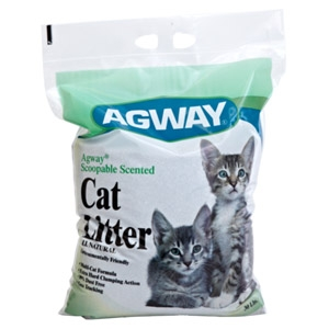 Agway Scoopable Scented Cat Litter 30lbs $5.99