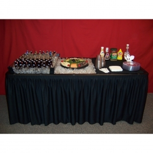 Chillin' Products Fill 'N Chill Party Table - Black, 72