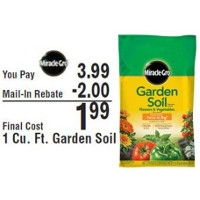 Miracle-Gro® Garden Soil Only $1.99 with Rebate