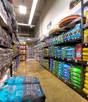 Pet Depot pet food aisle