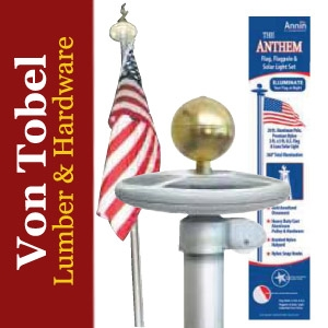 $15 OFF Annin 20' Flag Pole Kit w/ Solar Light