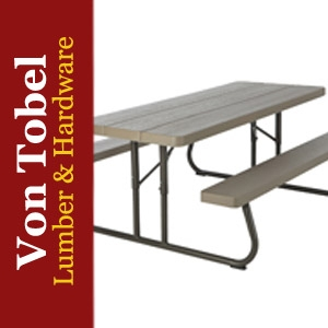 $20 OFF 6' Woodgrain Folding Picnic Table