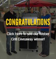 Von Tobel Weber Grill Giveaway Winner 2014