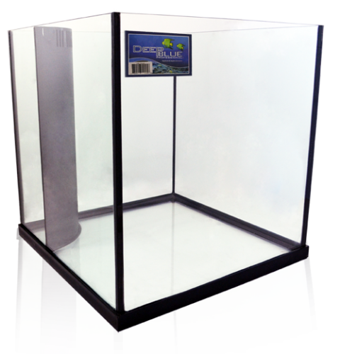 Blue Fish Aquarium Deep Blue 60 Gallon Edge Cube Rimless