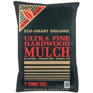 Ultra Fine Hardwood Mulch is 3/$10.00