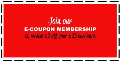 Receive $5.00 Off Your $25.00 Purchase