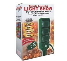 3-Outlet Light Show Yard Stake For $16.99