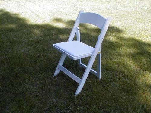 White Padded Chairs (wedding chairs)
