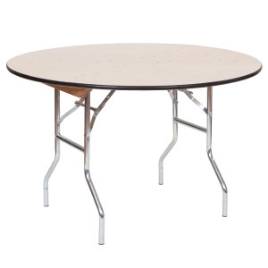 """PRE 48"""" Round Wood Table"""