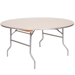 "PRE 60"" Round Metal Wood Table Image"