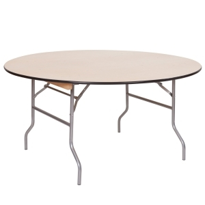"PRE 60"" Round Wood Table"