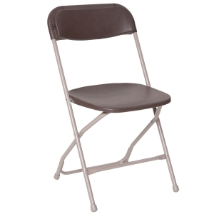 PRE Brown Plastic Dining Chair