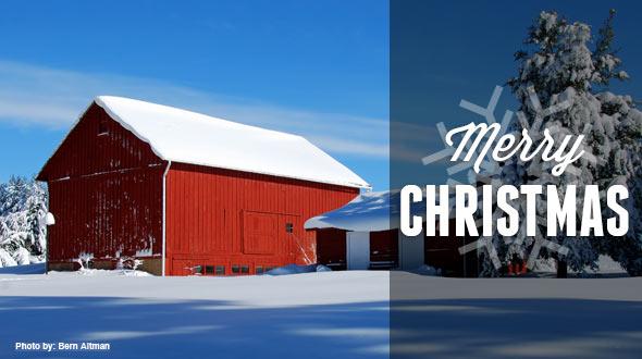barn merry christmas