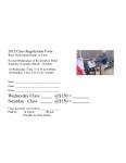 Bee Class Registration Form
