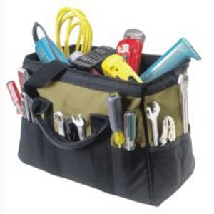 CLC Work Gear 22 Pocket 16-In. Big Mouth Tool Bag