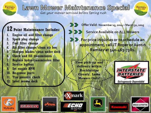 Lawn Mower Maintenance Special