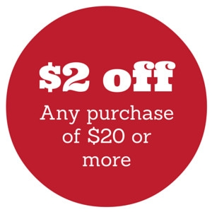 $2 off When You Spend $20 or More