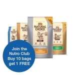 Your Choice of Nutro Natural Choice 30# now $44.99