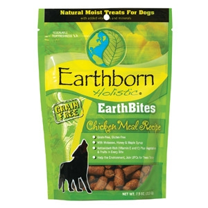 Earthborn Holistic® EarthBites™ Chicken Meal Recipe Natural Moist Treats For Dogs