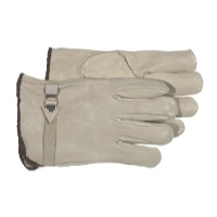 Boss Grain Leather Tan Buckle Glove Large $9.99