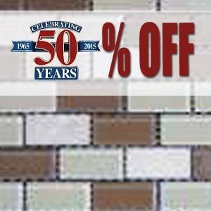50% Off Dark & Tan Natural Stone & Glass Mosaics