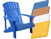 Adirondack Folding Chair, White