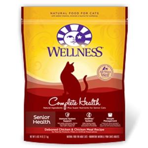 Wellness Pet Food Complete Health Senior Deboned Chicken & Chicken Meal Feline Recipe