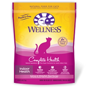 Wellness Pet Food Complete Health Indoor Salmon & Whitefish Meal Feline Recipe