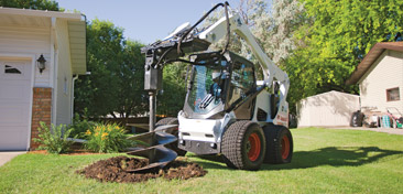 skid steer with auger