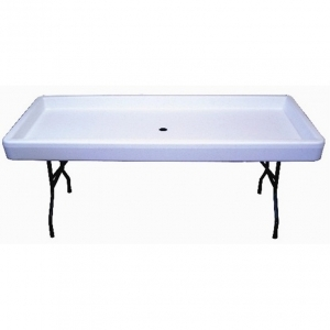 Chillin Products Fill 'N Chill Party Table - White